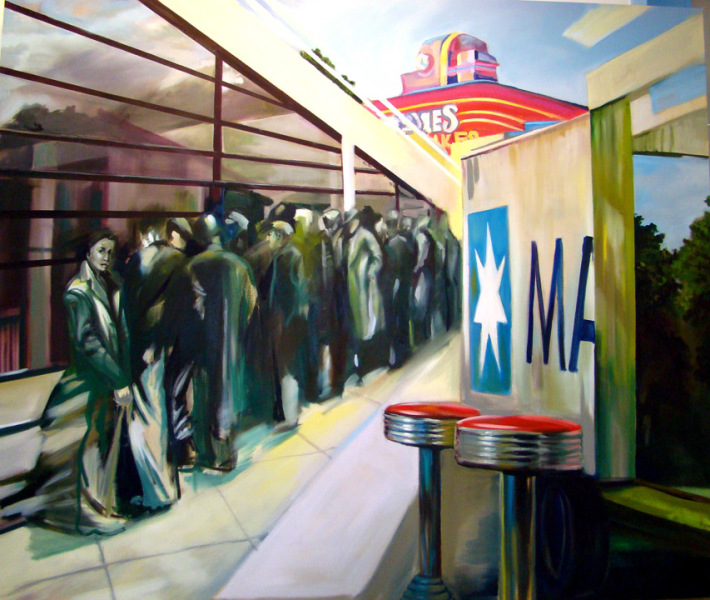Diner 2. oil on canvas 2007
