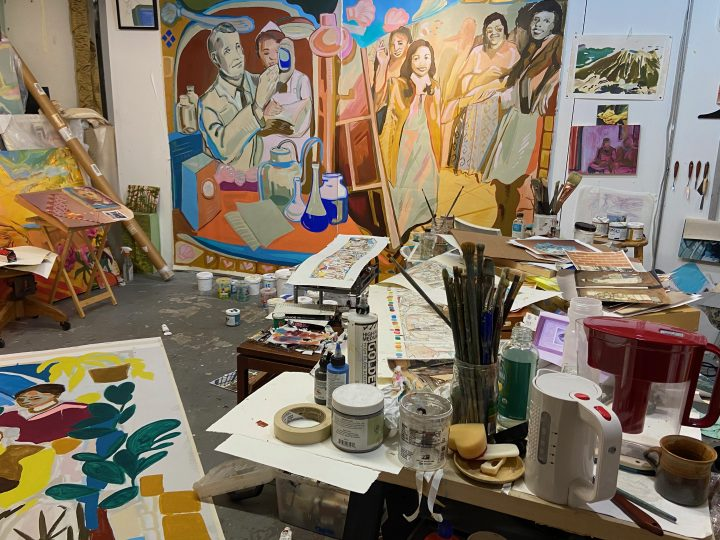 Progress Image in the studio
