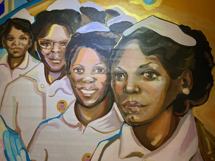 Sea View Hospital Mural - Black Angels detail 2020
