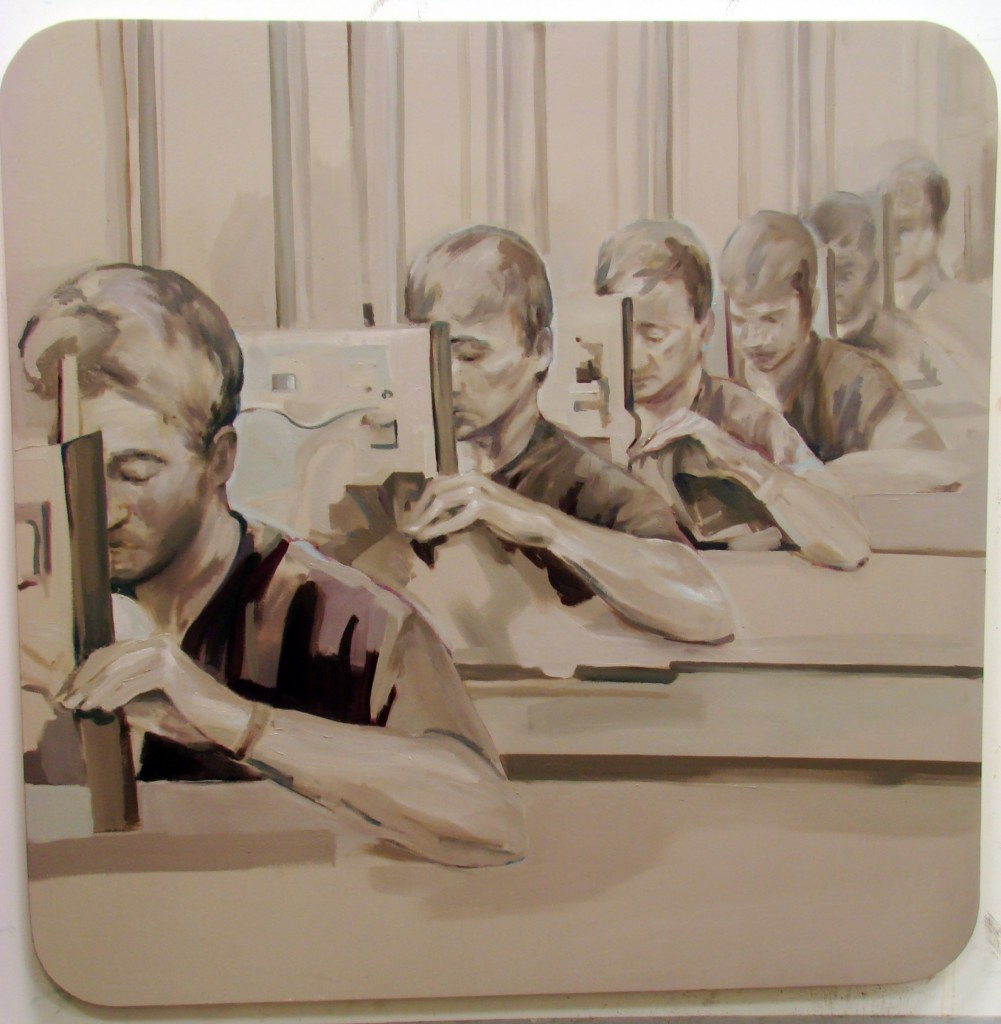 2010 oil on wood  50 x 50 inches
