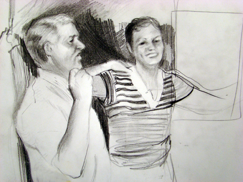 Marry people 2010 graphite on paper 9 x 12 inches