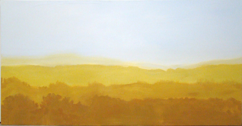 2010 oil on canvas 48 x 87 inches