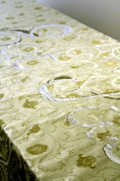 Eat faster 2012 thread on fabric table cloth