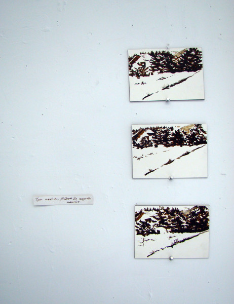 2010, ink on board, 5 x 7 inches each
