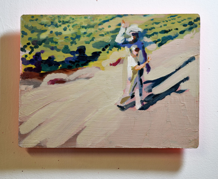 oil on wood 9 x 12 inches